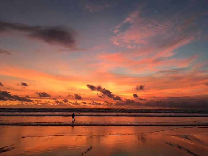 Eyem Photography Romantic Beautiful Wallpaper EyeEm Best Shots INDONESIA Bali Beach Sunset Orange Color Nature Beauty In Nature Tranquility Scenics Tranquil Scene Reflection Water Salt Basin Outdoors Sky No People Landscape Salt - Mineral Day Lake