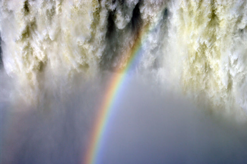 Rainbow on waterfall