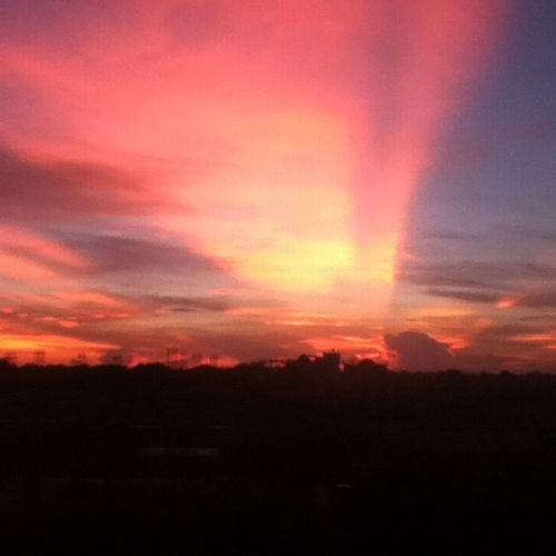 Nice Arternoon Sun_set Orange red sun sunshine sunset cloud cloudy blue dark black shadows beautiful bestoftheday photooftheday