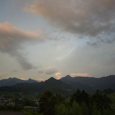 Japan Miyazaki Takachiho Mountains Yama Sky Clouds Beautiful Picture 高千穂 山