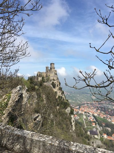 San Marino Frainf Sky Architecture Built Structure Building Exterior Cloud - Sky Nature Building No People History Travel Destinations Outdoors Tree