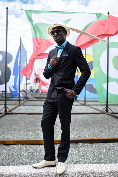 Fashion male show in Florence Day Fashion Flag Full Length Malefashion One Person Real People Standing Street Streetfashion Style Stylish