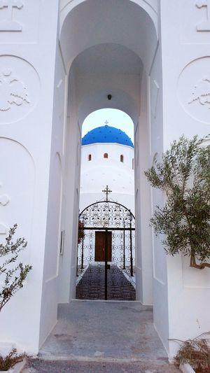 Greek Church Walking Around Architecture_collection Santorini Byzantine Architecture Perissa Greek Islands Greece