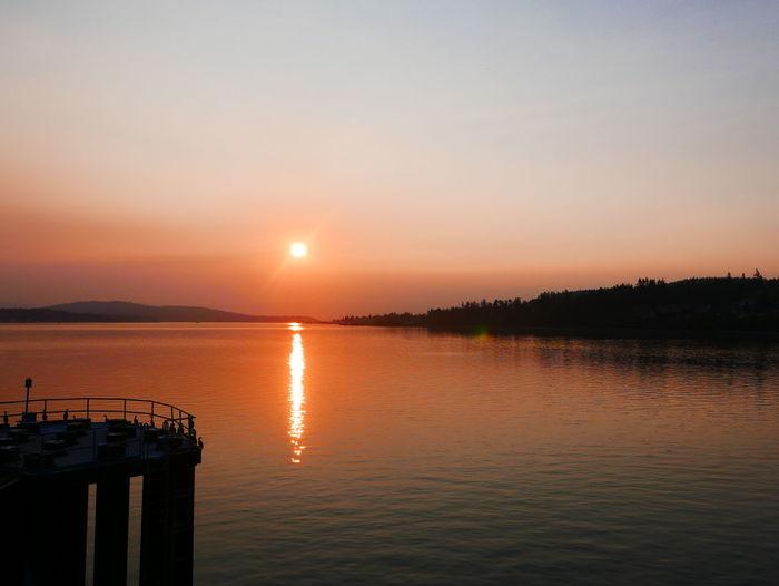 An Eye For Travel Early Morning Idyllic Mooring Moorings  Orange Color Reflection Sun Sunrise Sunset Travel Early