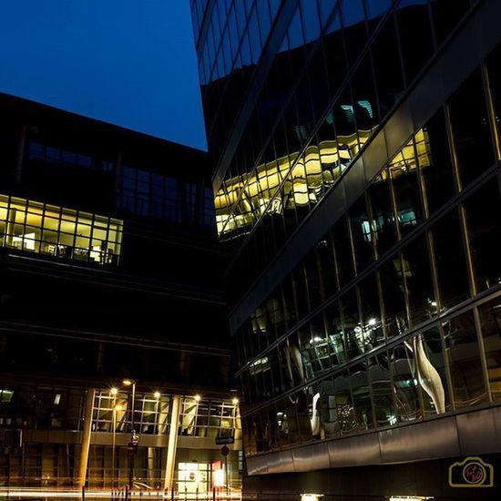 Düsseldorf NRW Ig_nrw Medienhafen Ig_germany Ig_düsseldorf Spiegelung Nachtaufnahme Nachtfotografie Abend Düsseldorfcity Reflection Reflektion Mirror Olympus M43 Mft EM1 Micro43 Mikro4