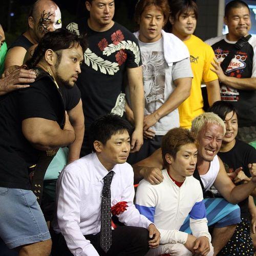 """""""大日本プロレスカップ""""だったので、大日本プロレスのレスラーたちが表彰式に登場! 園田競馬 その金ナイター 大日本プロレス"""