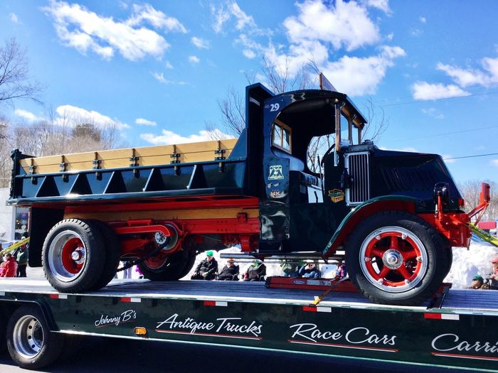 St. Patrick's Day Parade Outdoors Red Antique Truck Transportation Old-fashioned Sky Land Vehicle Eye Em New Here