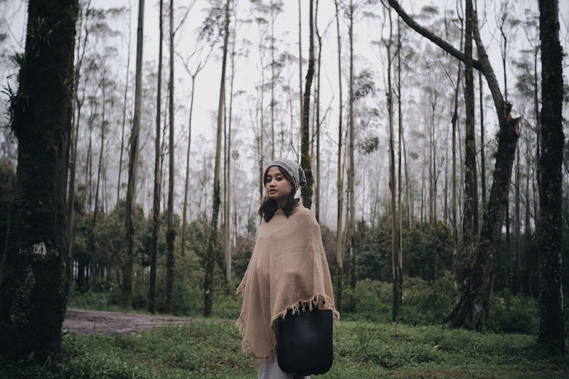 Crater Girl 4 INDONESIA Only Women Adult Fashion Adults Only One Woman Only Young Adult People Tree Forest Young Women Warm Clothing Nature
