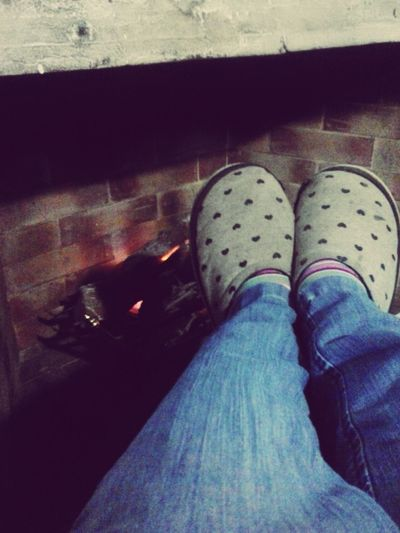 There is no better place that the one next to the fire Warm Cold Winter