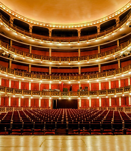 Interior of illuminated auditorium