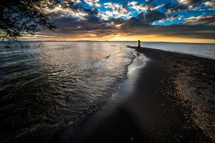 Living Bold Nicaragua Adventure Ometepe Beach Sunset Sand Waves