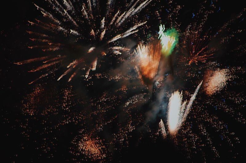 2018 American Festival Firework Celebration Firework Display Event Night Exploding Arts Culture And Entertainment Firework - Man Made Object Motion Long Exposure Low Angle View Blurred Motion Glowing Sky Sparks Smoke - Physical Structure No People Nature Outdoors Illuminated