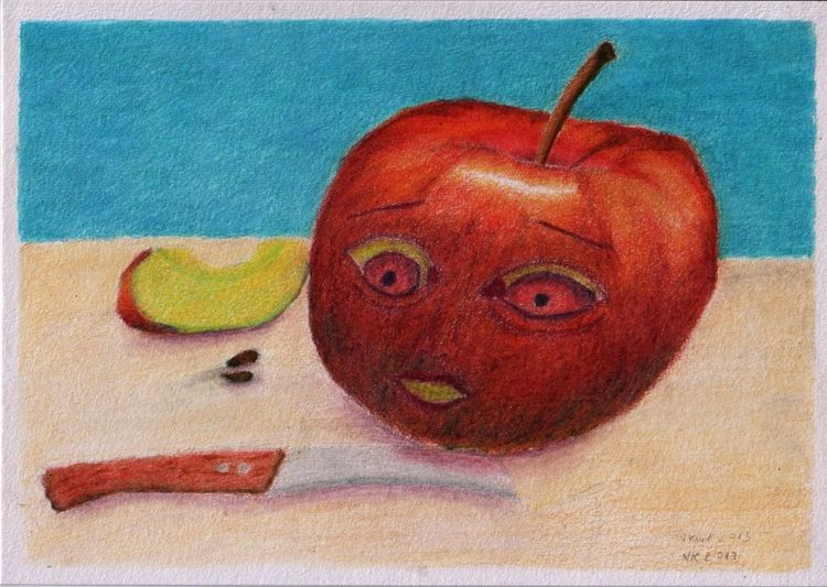 The fear of the apple - a pencil drawing from 2013. If you like to see more from older work? My Surreal Art My Traditional Art Now Online Showing Why I Could Be An Open Editor Germany