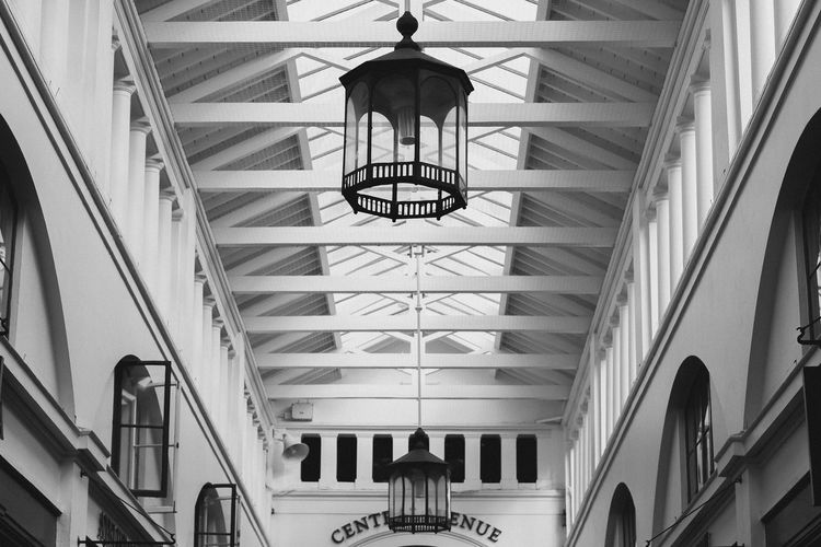 Covent Garden  London Architecture Building Built Structure Ceiling Clock Day Electric Lamp Glass - Material Hanging Illuminated Indoors  Lighting Equipment Low Angle View Luxury Modern No People Railing Skylight Staircase Steps And Staircases Window