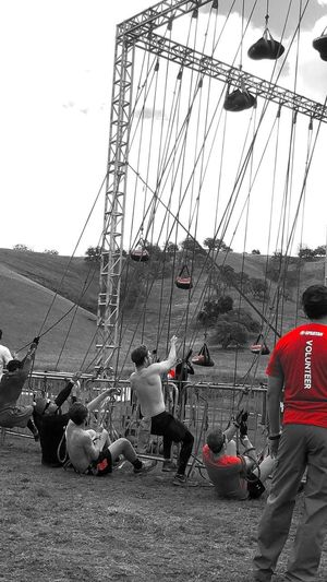 Training Outdoors Excercise Teamwork Spartan Race Building Muscles Strongman Traning Traning Hard Cable Outdoors Electricity Pylon Day Sky Electricity  Power Supply Built Structure