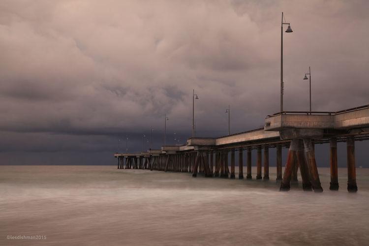 A Gathering Storm Venice Beach Pier California California Coast Day Horizon Over Water Nature No People Ocean Ominous Outdoors Pacific Ocean Sea Sky Storm Storm Cloud First Eyeem Photo