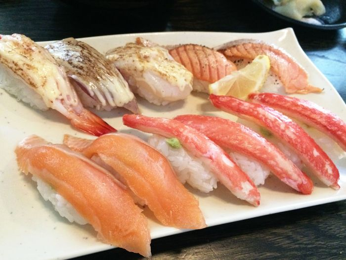 網走 Dining 月 寿司 Seafood Food Freshness Healthy Eating Table Fish