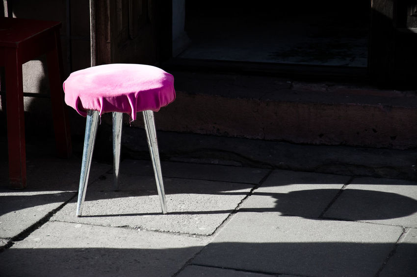 Architecture Chair Close-up Day No People Outdoors Photography Picoftheday Pink Color Streetphotography
