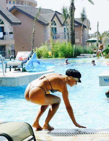 Bikini Outdoors Pool Sternfee Sunlight Water Goodnight Good Morning Good Morning! NakedButts Legs Holiday Nina Butts Women Who Inspire You Sexylegs Vacations Sensual_woman Blonde