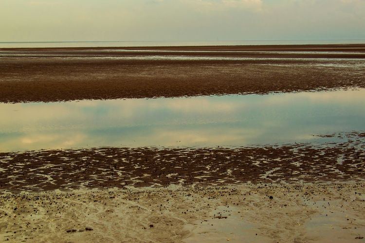 Check This Out Sea Sea And Sky Seaside Reflection Reflection_collection Taking Photos Sand Pebbles Stones Beach Swansea Bay First Eyeem Photo