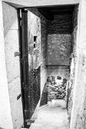 Montefusco Porta Avellino Carcere Borbonico BW_photography Architecture Built Structure Building Exterior Building Entrance Door Day