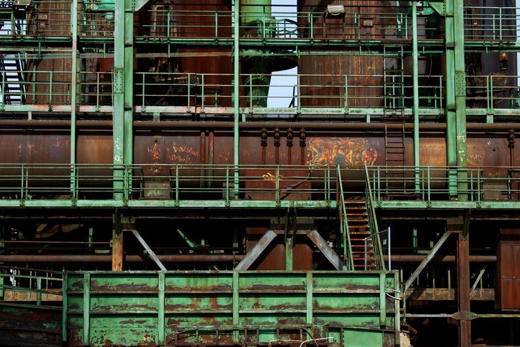 Steel - HD Reupload Ruhrgebiet Architecture Building Building Exterior Built Structure Construction Industry Day Development Full Frame Industry Metal No People Old Outdoors Rusty Scaffolding Staircase Steel Steel Structure  #urbanana: The Urban Playground