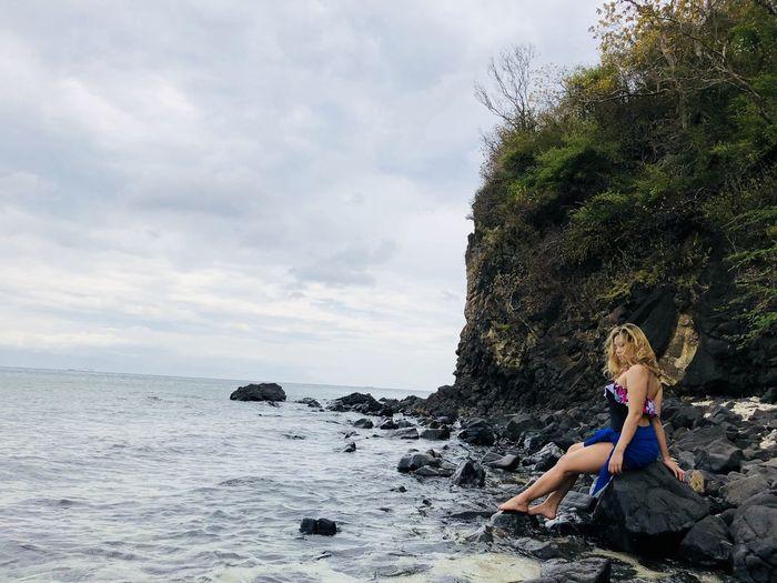 new subject Beach Sea Sky Cloud - Sky Outdoors Summer People Sand Fun Only Women Blond Hair