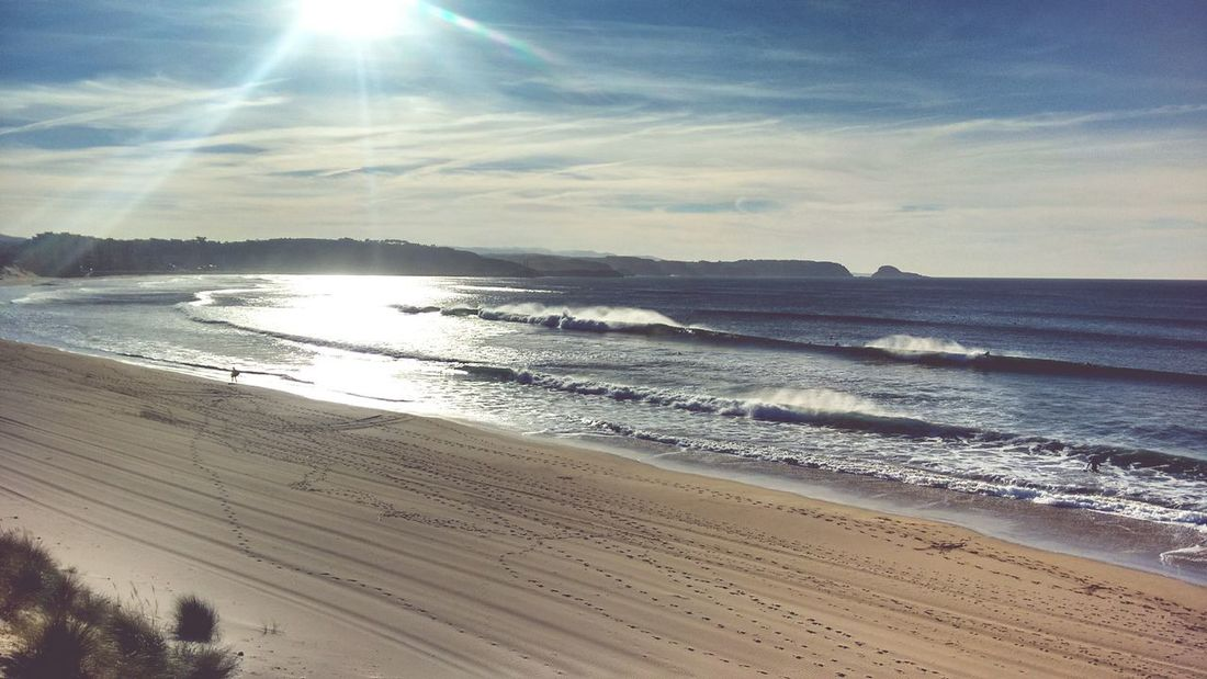 Salinas beachbreak bay, one of the best place to practice surf i n de Cantabric Sea more than 80% of days have waves.