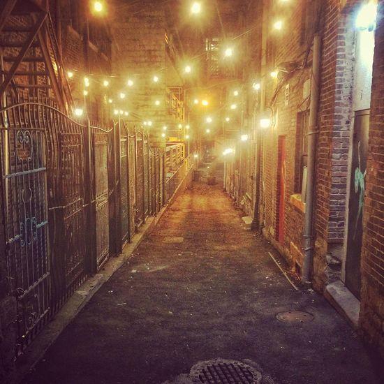 Night Lights Nightphotography Night Alley NASHVILLE,TENNESSEE Illuminated The Way Forward Night No People
