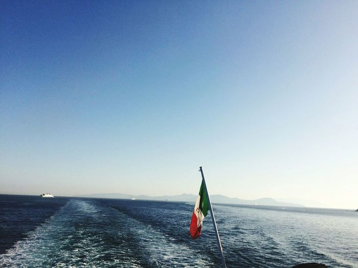 Italian Flag Against Sea