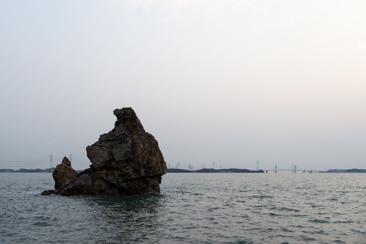 seaside view at Daebudo Island in Gyeonggido, South Korea Daebudo Daebudo Island Tranquil Tranquility Beauty In Nature Clear Sky Copy Space Day Eroded Horizon Over Water Land Nature No People Outdoor Outdoors Rock Rock - Object Rock Formation Scenics - Nature Sea Seaside Sky Solid Stack Rock Tranquil Scene Tranquility Water Waterfront