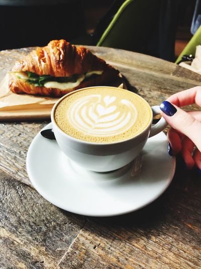 Coffee is a good choice Coffee Break Coffee Time Coffee - Drink Coffee Breakfast ♥ Breakfast Coffee Cup Coffee Coffee - Drink Food And Drink Cup Mug Drink Human Hand Cappuccino Hand Table Indoors  Human Body Part Real People One Person Hot Drink