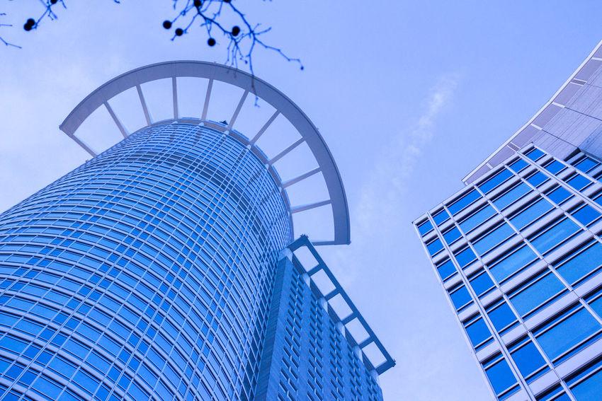 Clean Blue Wave Built Structure Buildings Simplicity