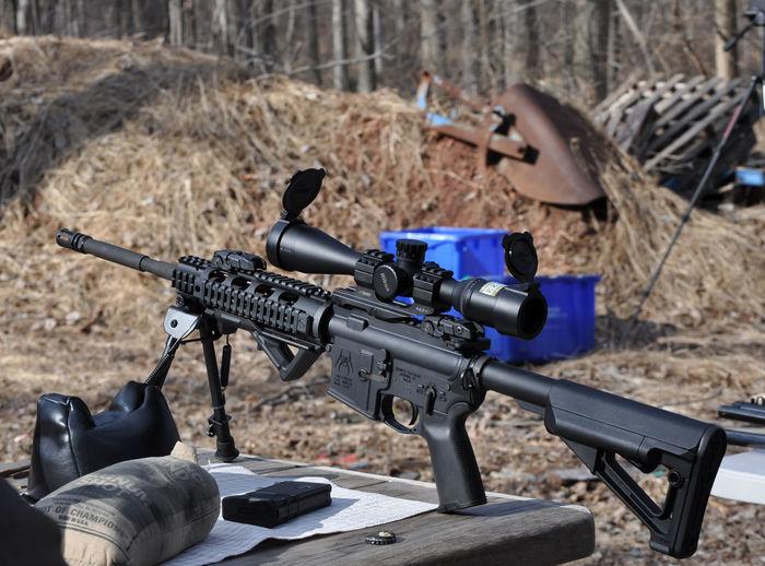 AR15 Rifle AR 15 Gun Ar15 Army Gun Military No People Outdoors Rifle War Weapon