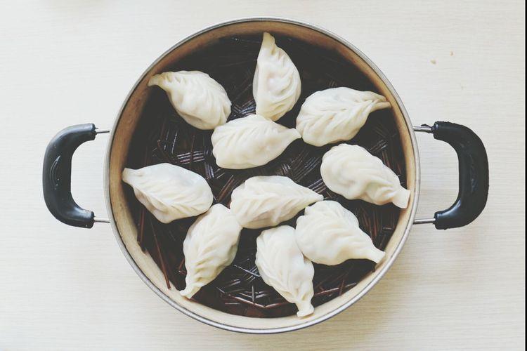 Steamed Dumpling Enjoy A Meal