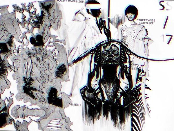 Moodboard Fashiondesign Esmod last collection