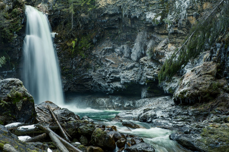 Waterfall in BC, Canada EyeEmNewHere Beauty In Nature Blurred Motion Cliff Day Flowing Water Forest Long Exposure Motion Nature No People Outdoors Power In Nature Rapid River Rock - Object Rock Formation Scenics Tree Water Waterfall