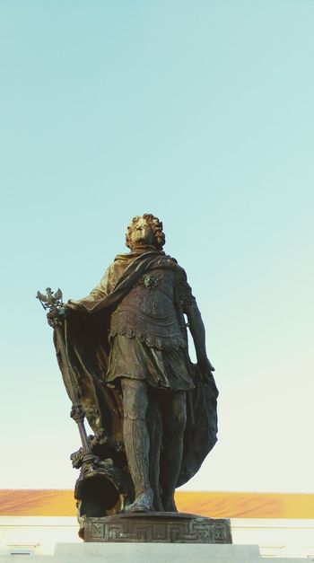 Statue Male Likeness Human Representation Sculpture Travel Bronze - Alloy Travel Destinations City Outdoors No People Day Sky Charlottenburg Palace