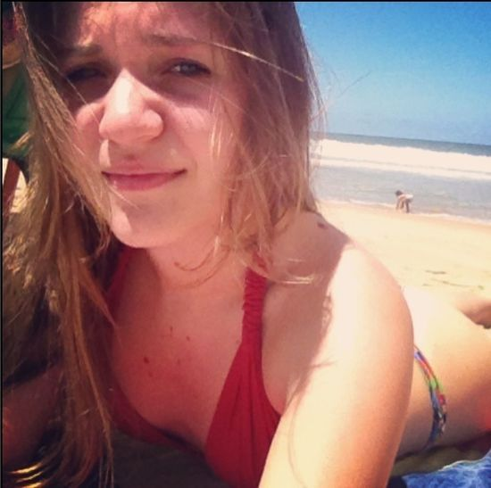 Sunset Beach Blonde Girl