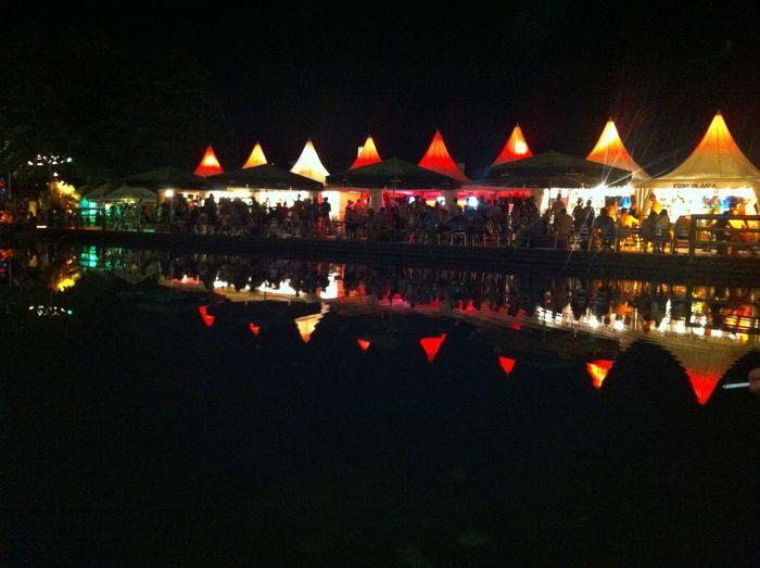 Cities At Night Lucerne, Switzerland Blueballsfestival