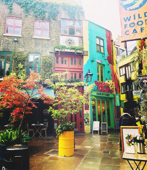 Architecture Built Structure Multi Colored City Neal's Yard London Covent Garden  Colors Fairy