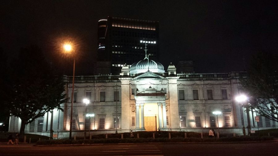 Taking Photos Bank Old Building  Osaka Japan Taking Photos 日本銀行 中之島 Streetphotography Building Nightphotography