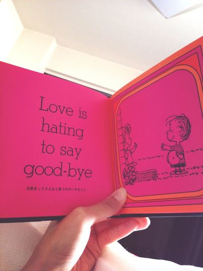 Love Is Hating To Say Good- Bye.