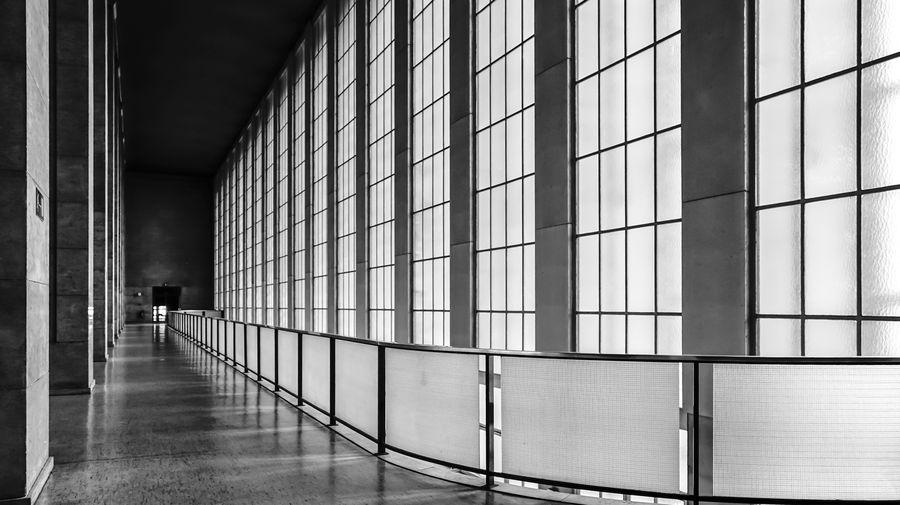 Walkway at berlin tempelhof airport