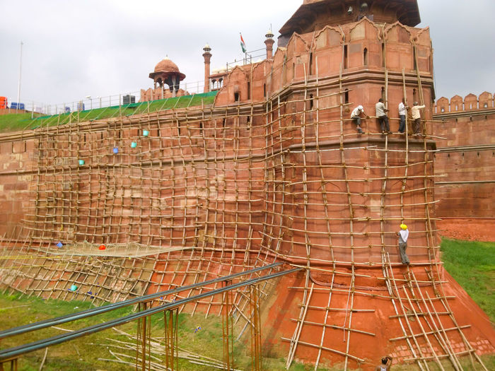 Architecture Building Exterior Built Structure Construction Site Day Maintenance Work Outdoors Sky The Week On EyeEm Red Fort Lal Qila