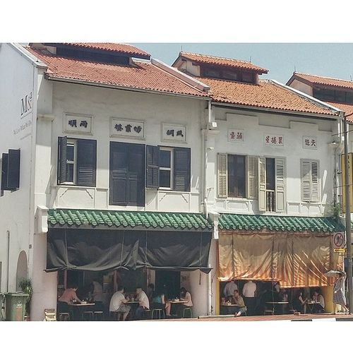 i have had many delicious soy sauce chicken meals here. Chinatown Shophouse Kopitiam building architecture