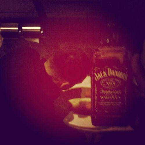 Last nite we snuck this JD in the club!!! Drunk Throwinup Bathroom =D