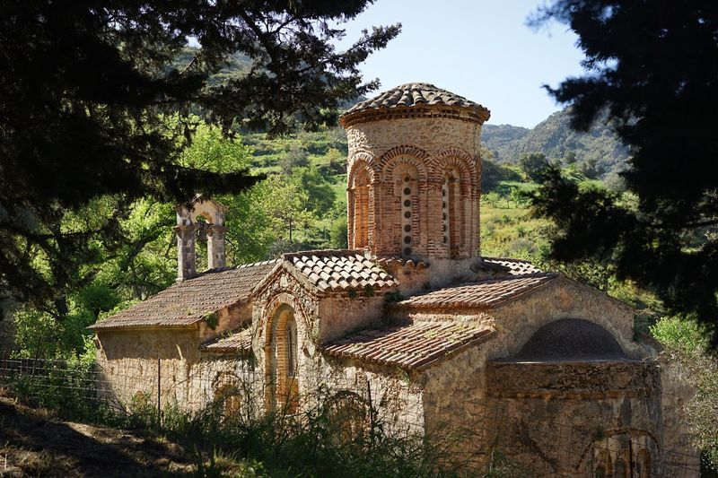Greek Orthodox Church Ancient Architecture Tree Architecture Built Structure Day History No People Outdoors Building Exterior Sky