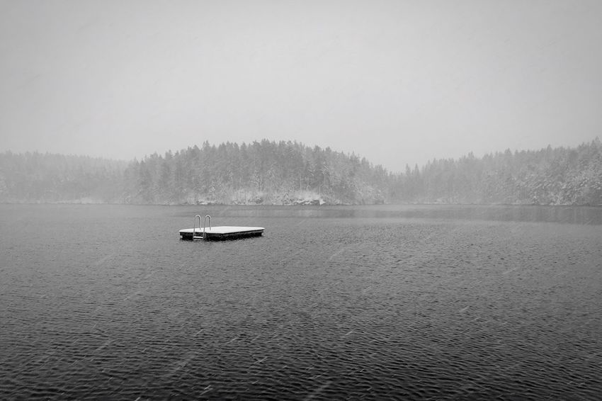 .::Nebular Ravens Frost pt II::. Nature Water Tranquility Beauty In Nature Scenics Nautical Vessel Outdoors Idyllic Fog Mode Of Transport Tranquil Scene Tree Day Transportation No People Waterfront Lake Sky Black And White Excellence MADE IN SWEDEN Minimalobsession Minimalism Intense Nothingness Abandoned Rural Landscape