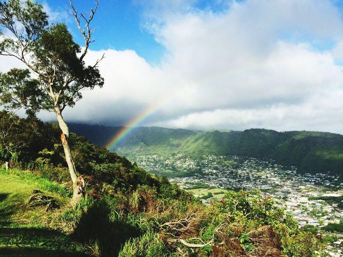 What Does Peace Look Like To You? Rainbow Oahu Mountains